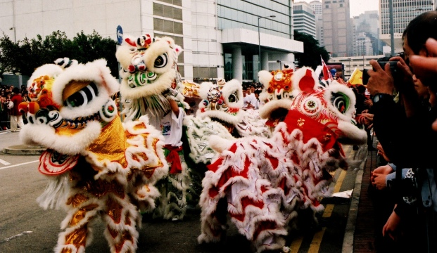 Lion Dance Parade in New York Chinatown