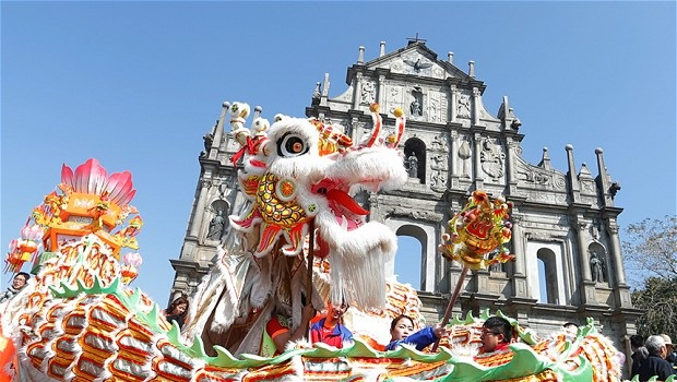 Chinese new year celebrations in macau