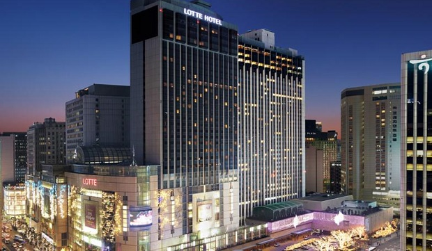 Lotte Hotel in Seoul on New Years Eve